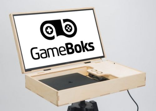 GameBoks portable console gaming case with screen