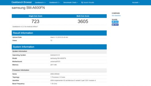 Samsung Galaxy A6 And Galaxy A6 Plus Spotted On Geekbench