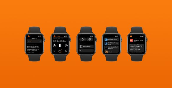 Overcast gains redesigned Apple Watch app with chapter skipping, speed controls, and more