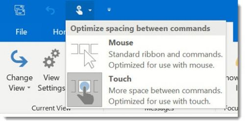 Office Tip: How To Make Outlook Easier To Use On A Touchscreen