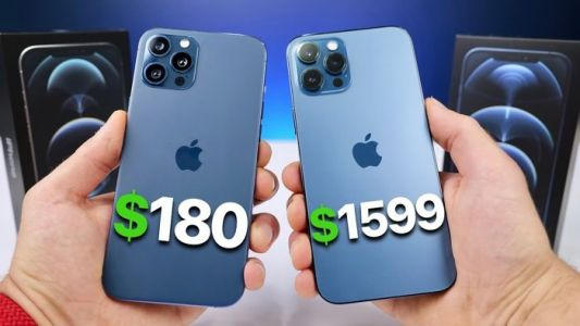Fake iPhone 12 Pro Max vs real iPhone 12 Pro Max