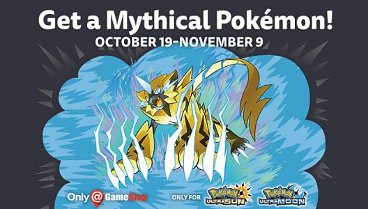 Mythical Pokémon Zeraora Code Available at GameStop