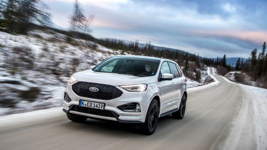 The 2019 Ford Edge on ice: more tech, less sacrifice