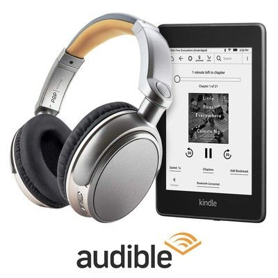 The $139 Kindle Paperwhite bundle comes with headphones and Audible