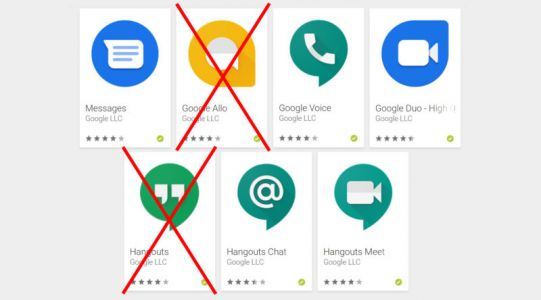 Google promises to shut down two of its seven messaging apps