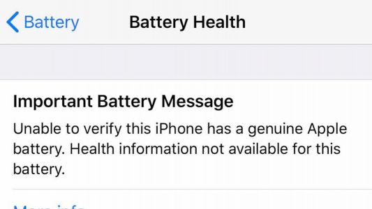 Apple defends new aftermarket battery warning in iOS as a way to protect users