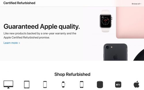 Apple launches overhauled Certified Refurbished Online Store with new design, more