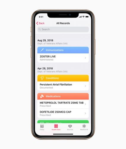 Apple's Health Records Feature Will Be Available Soon to U.S. Veterans