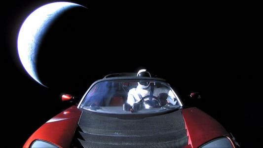 Starman is out there, but we probably won't see him again until 2047