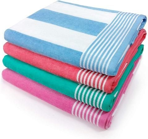 Dry off or lay on the sand with these beach towels
