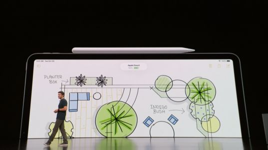The new Apple Pencil: octagonal design, tap gestures, snaps magnetically onto new iPad Pro