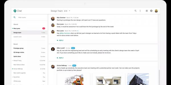 Hangouts Chat on the web updated w/ various Google Material Theme tweaks