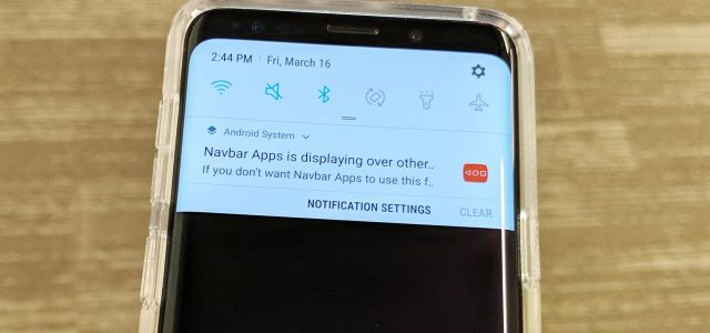 How to Disable Those Annoying 'Displaying Over Other Apps' Notifications on Your Galaxy S9