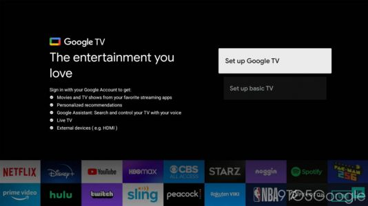 "The best feature of Google TV? You can turn it off for a ""dumb TV"" mode"