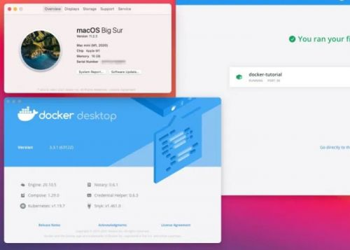 New Docker Desktop for Mac supports Apple M1 Silicon