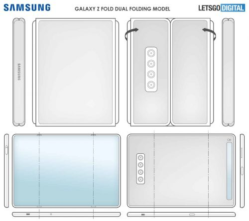 Samsung Patents Interesting Tri-Fold Smartphone Designs