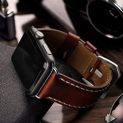 Switch your Apple Watch's style with a genuine leather band on sale for $6