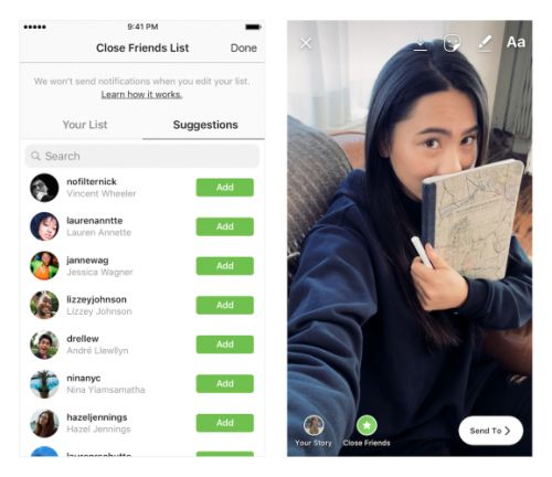 Instagram now lets you send Stories only to 'close friends'