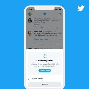 Twitter Adds Warning When You Try to Like a Labeled Tweet