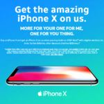 And the first free iPhone X BOGO deal goes to. AT&T