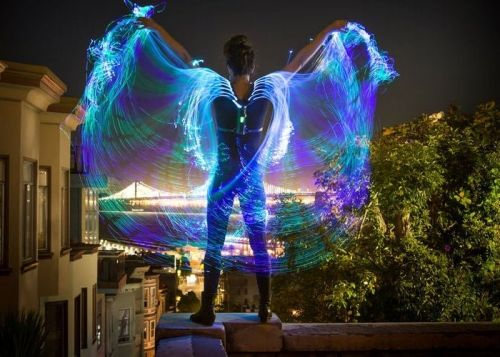 Awesome Fiber Optic Wings