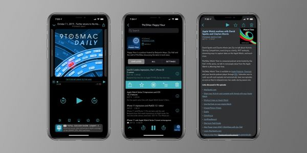 Overcast for iOS updated to support iOS 13 Dark Mode with two theme options