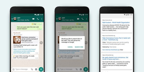 New feature lets you easily fact-check WhatsApp messages