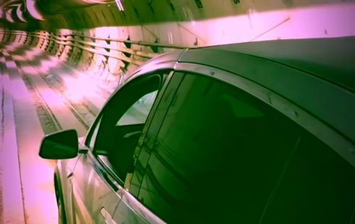 Tesla Model X Fly's Through Boring Company Tunnel