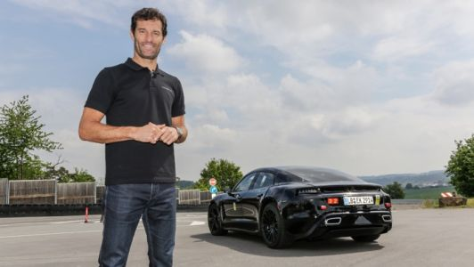 Mark Webber Takes The Porsche Mission E For A Spin