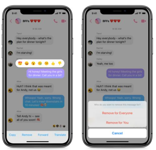 Facebook Rolling Out Unsend Feature For Messenger