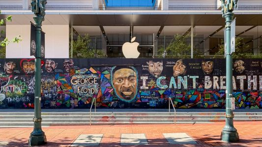 Apple Pioneer Place mural donated to nonprofit Don't Shoot PDX