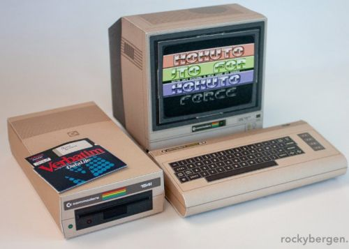 Retro computer papercraft by Rocky Bergen