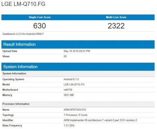 Alleged LG Q7 Visits Geekbench With Helio P10, Android 8.1