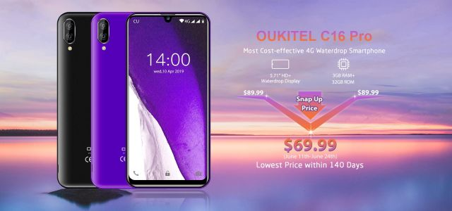 OUKITEL Opens C16 Pro Pre-Orders, Get It For Only $69.99