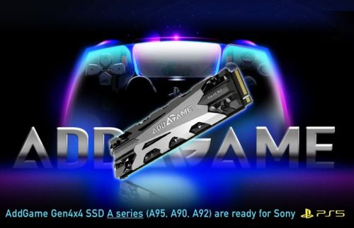 Addlink PlayStation 5 SSD specifically optimized M.2 PCIe 4.0 PS5 SSD unveiled
