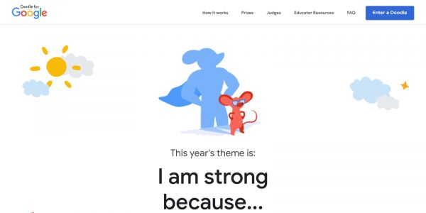 Doodle for Google 2021 opens submissions for 'I am strong because.' theme