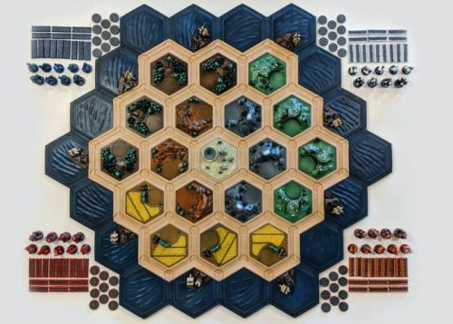 Awesome 3D printed Catan magnetic multicolored game board