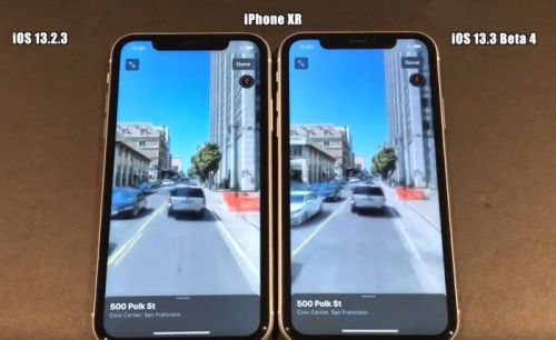 IOS 13.3 beta 4 vs iOS 13.2.3 speed test