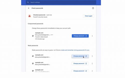 Chrome 88 brings better password management