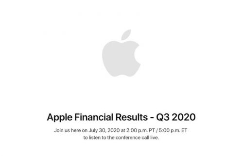 Apple announces its Q3 2020 earnings call will be held on July 30