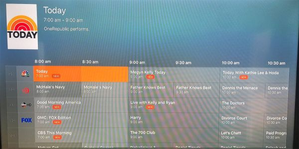Plex grid view of live TV guide now available on Apple TV
