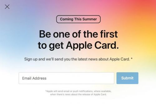 How to sign-up to get notified when Apple Card is available