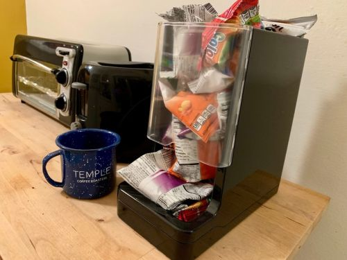 WePlenish Java Smart container will automatically refill your coffee pods