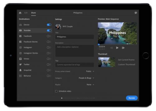 Adobe Project Rush Video Editing App Unveiled