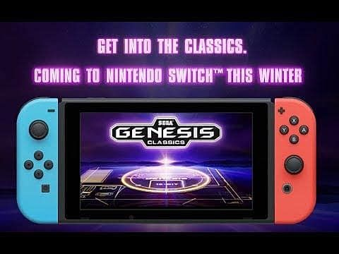 Sega Genesis Classics Heading to Nintendo Switch This Winter