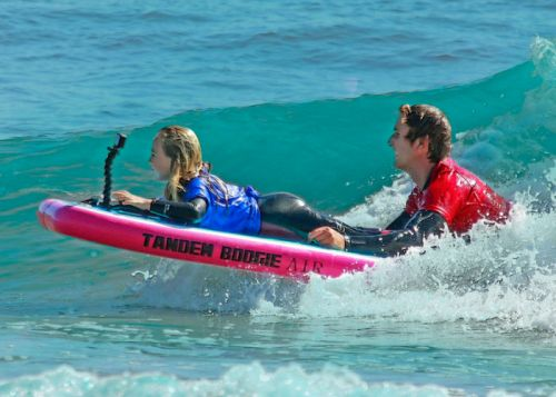 Tandem Boogie inflatable body board for two