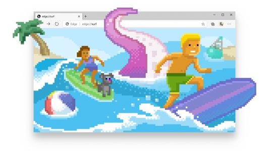 Introducing the new surf game in Microsoft Edge