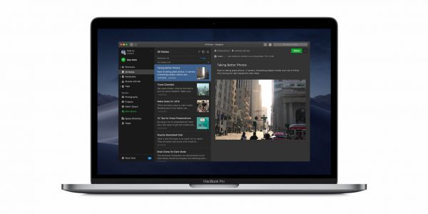 Dark Mode support comes to Evernote for macOS and iOS
