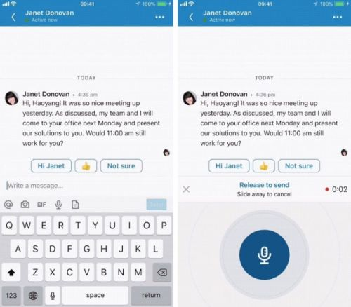 LinkedIn Adds Voice Messaging Feature to its Mobile App