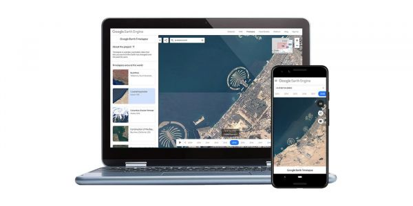 Google Earth Timelapse arrives on smartphones, adds two more years of imagery, Material redesign